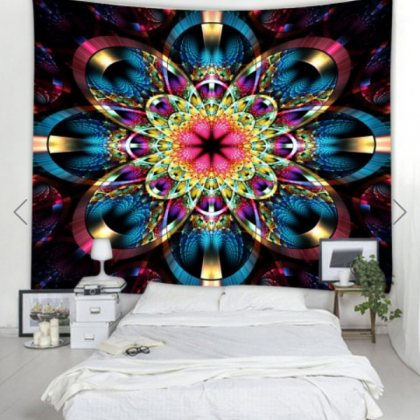 Fabric Wall Tapestry/Throw Flower M..