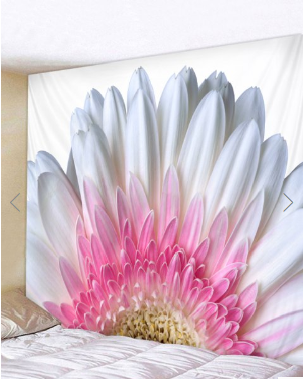 Fabric Wall Tapestry/Throw Flower and Petals 59 x 51 inches
