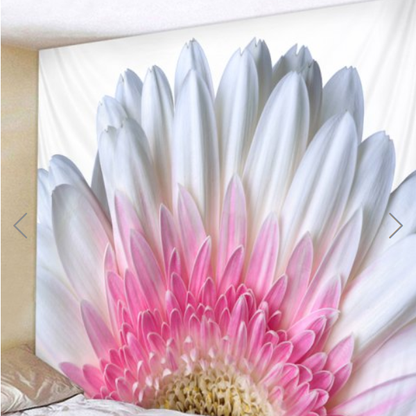 Fabric Wall Tapestry/Throw Flower and Petals 71 x 91 inches